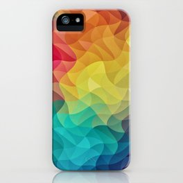 Abstract Color Wave Flash iPhone Case