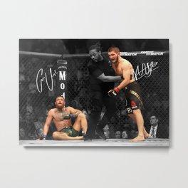 Khabib Nurmagomedov vs Conor McGregor Metal Print