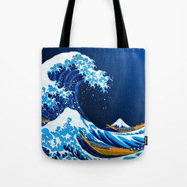 The Great Wave off Kanagawa (Bright & Colorful) Tote Bag