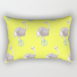 Ostrich on Monocycle Rectangular Pillow