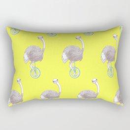 Ostrich on Monocycle Rectangular Pillow