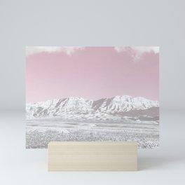 Mojave Snowcaps // Las Vegas Nevada Snowstorm in the Red Rock Canyon Desert Landscape Photograph Mini Art Print