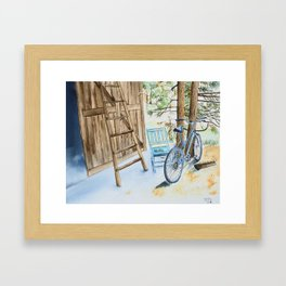 Bike and Ladder Framed Art Print