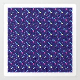 Cyber pattern Art Print