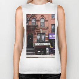 Stores and business in MacDougal Street, NYC Biker Tank