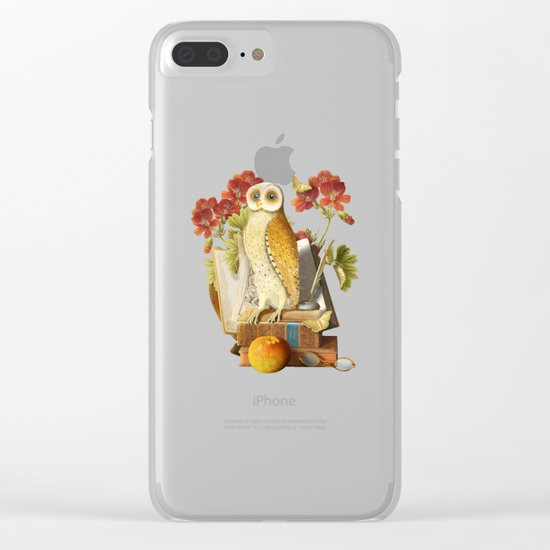 Apprentice Owl Clear iPhone Case