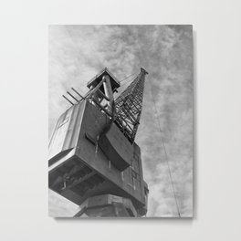 Ship Yard Crane Metal Print