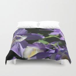 Purple Columbine Duvet Cover