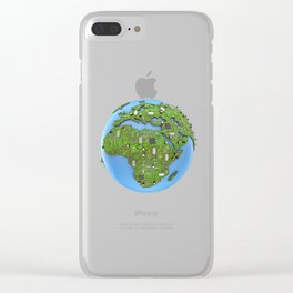 Data Earth Clear iPhone Case
