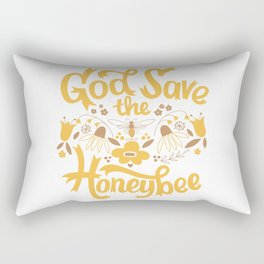 God Save the Honeybee Rectangular Pillow