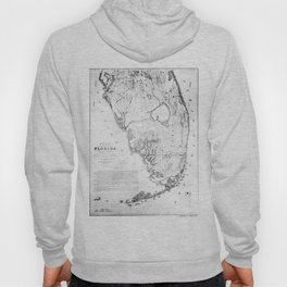 Vintage Map of Southern Florida (1856) Hoody