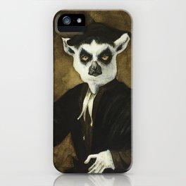 Portrait of a Young Lemur iPhone Case