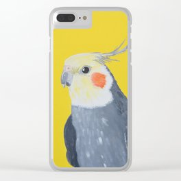 Periklis the Cockatiel Clear iPhone Case