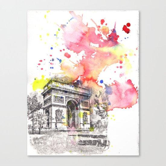 Arch De Triumph Paris France Canvas Print
