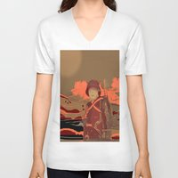 soldier V-neck T-shirts featuring Soldier ( drawing) by Ganech joe