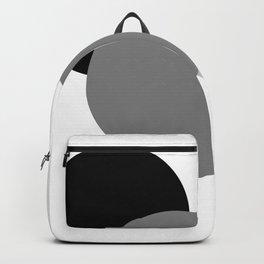 Gray White Black : Mod Circles Backpack