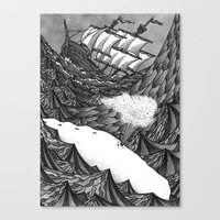 dick Canvas Prints featuring Moby Dick by GRZNYC