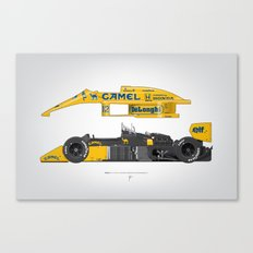 Outline Series N.º5, Ayrton Senna, Lotus 99T-Honda, 1987 Canvas Print