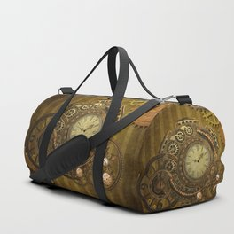 Steampunk design, wonderful clockwork Duffle Bag