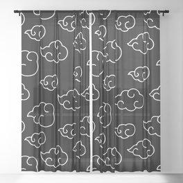 Akatsuki Cloud Black & White Sheer Curtain