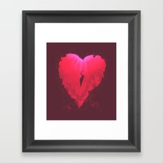 dive into your heart Framed Art Print