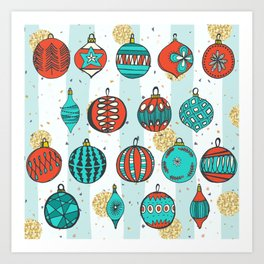 Bright MidCentury Christmas 1.0 Art Print