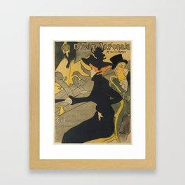 Henri de Toulouse-Lautrec Divan Japonais Framed Art Print