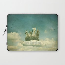 NEVER STOP EXPLORING 1 (THE CLOUDS) Laptop Sleeve