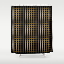 Abstract Lines Shower Curtain