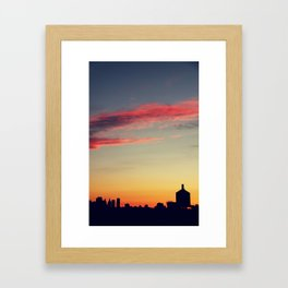 summer skylines Framed Art Print