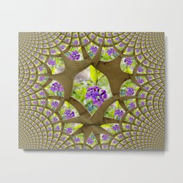 In a Wooden Web Metal Print