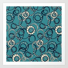 Honolulu hoopla blue Art Print