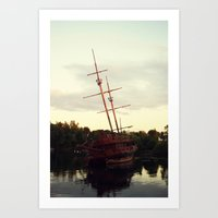 pirate ship Art Prints featuring Pirate Ship by BrandiNicole-Photography&Design