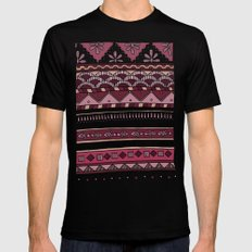 Yzor pattern 004 lilac Black Mens Fitted Tee MEDIUM