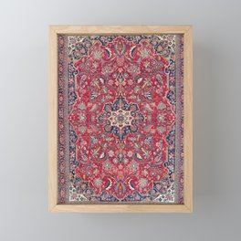 Bijar Kurdish Northwest Persian Rug Print Framed Mini Art Print