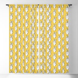 Peace Sign yellow Blackout Curtain
