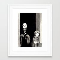 chaplin Framed Art Prints featuring Chaplin by Artusual