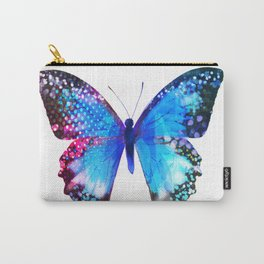 Big Blue Butterfly Carry-All Pouch