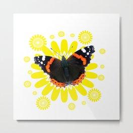 Red Admiral (vanessa atalanta) butterfly Metal Print