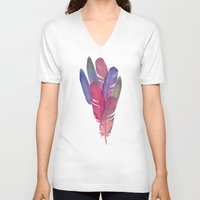 boho V-neck T-shirts featuring Boho II by Marta Olga Klara