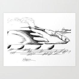 DragonTrain Art Print