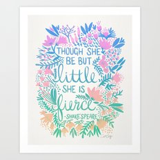Little & Fierce – Lavender Mint Ombré Art Print
