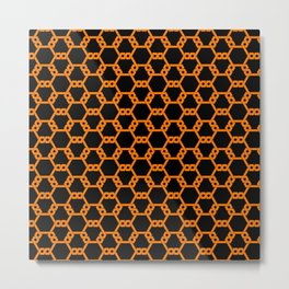 Orange Freeman Lattice Metal Print