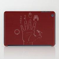 alchemy iPad Cases featuring Alchemy hand by Miriam Espacio