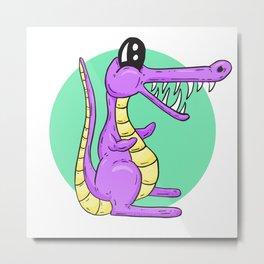 Dino Time! Tyrannosaurus Croc Metal Print