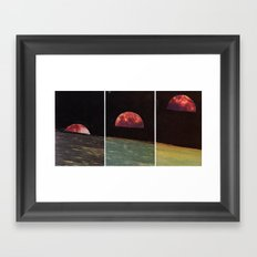 Three Views From The Same Moon Framed Art Print