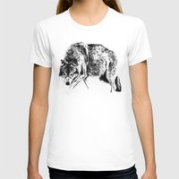 wolf T-shirts featuring Wolf by Anna Shell