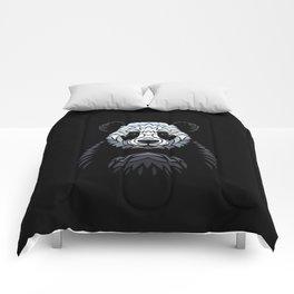 Tribal frontal Panda Comforters