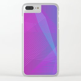 Illusion colors blue Clear iPhone Case