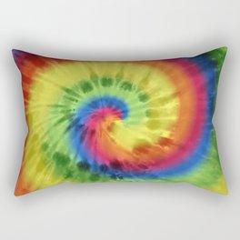 Boho Spiral Tie Dye Pattern Rectangular Pillow